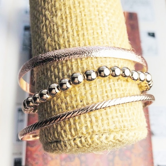 Alquimia Jewelry - NEW 3 FOR  ROSE GOLD BANGLE STACKABLE BRACELET SET